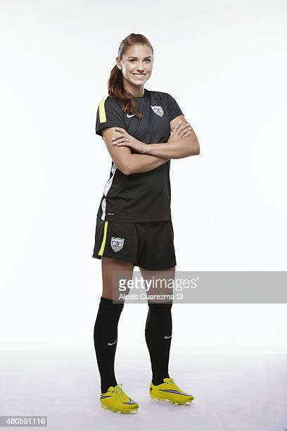 United States National Soccer team member Alex Morgan is photographed for Sports Illustrated on May 2 2015 in Newport Beach California CREDIT MUST...