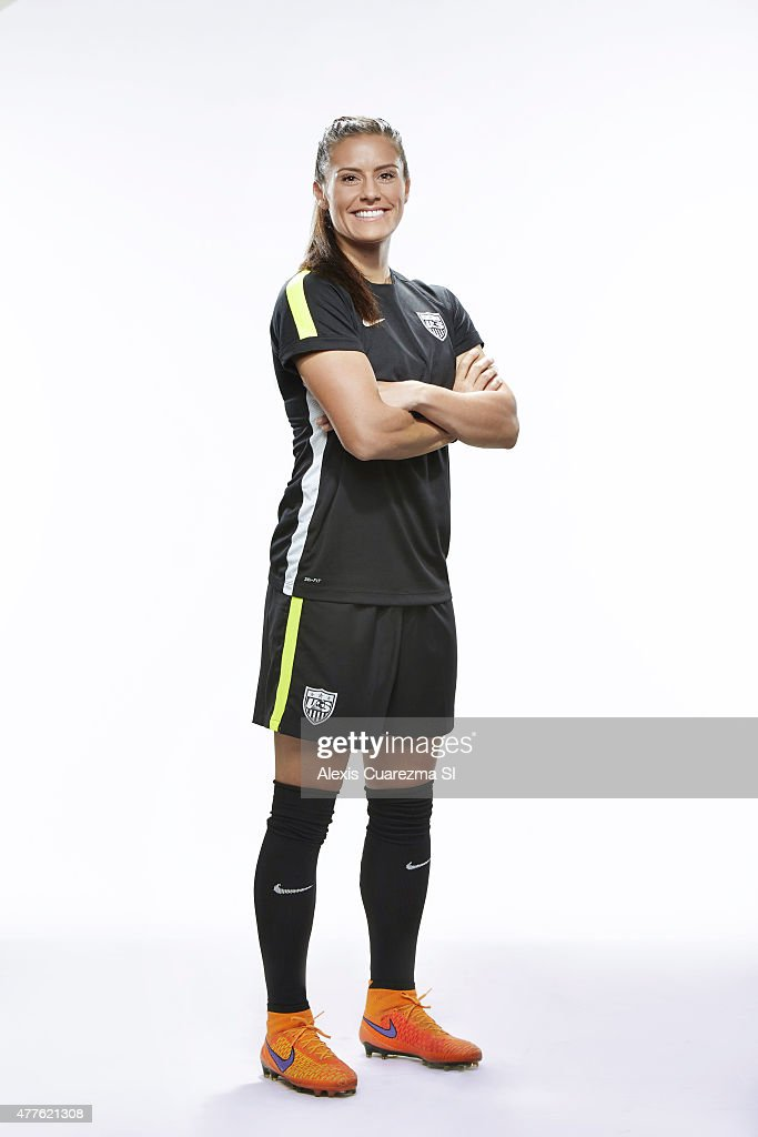 United States National Soccer team member, <a gi-track='captionPersonalityLinkClicked' href=/galleries/search?phrase=Ali+Krieger&family=editorial&specificpeople=7227841 ng-click='$event.stopPropagation()'>Ali Krieger</a> is photographed for Sports Illustrated on May 2, 2015 in Newport Beach, California. PUBLISHED IMAGE.