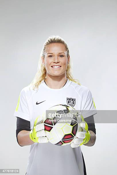 United States National Soccer team member Ashlyn Harris is photographed for Sports Illustrated on May 2 2015 in Newport Beach California PUBLISHED...