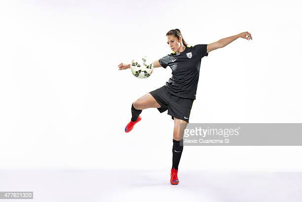 United States National Soccer team member Carli Lloyd is photographed for Sports Illustrated on May 2 2015 in Newport Beach California PUBLISHED...