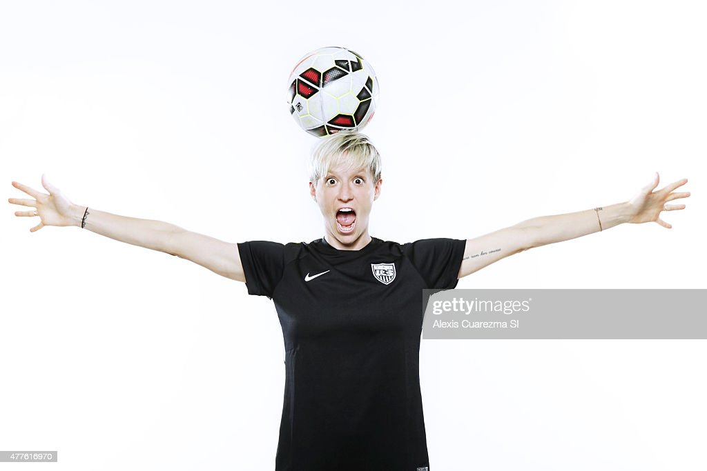 United States National Soccer team member, <a gi-track='captionPersonalityLinkClicked' href=/galleries/search?phrase=Megan+Rapinoe&family=editorial&specificpeople=736784 ng-click='$event.stopPropagation()'>Megan Rapinoe</a> is photographed for Sports Illustrated on May 2, 2015 in Newport Beach, California. PUBLISHED IMAGE.