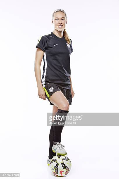 United States National Soccer team member Whitney Engen is photographed for Sports Illustrated on May 2 2015 in Newport Beach California PUBLISHED...