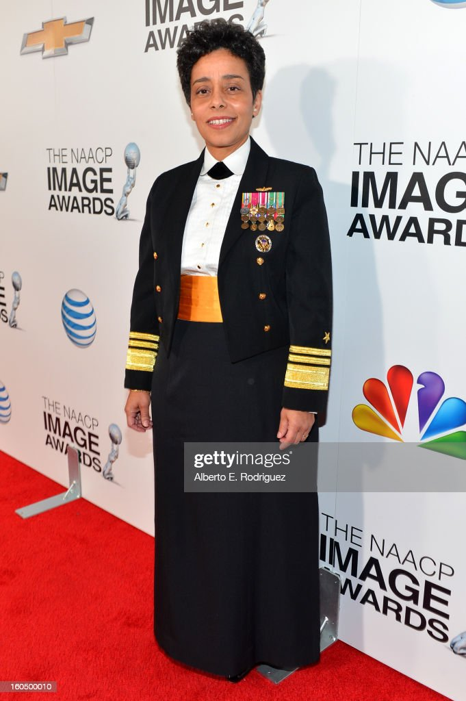 United States Navy Vice Admiral Michelle Janine Howard attends the 44th NAACP Image Awards at The Shrine Auditorium on February 1, 2013 in Los Angeles, California.
