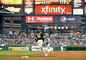 DETROIT United States Oakland Athletics designated hitter Hideki Matsui rounds first after homering during the sixth inning of a game against the...