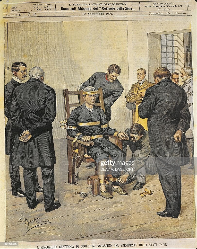 The electric chair execution - United States Of America 20th Century The Electric Chair Execution Of Czolgosz Murderer