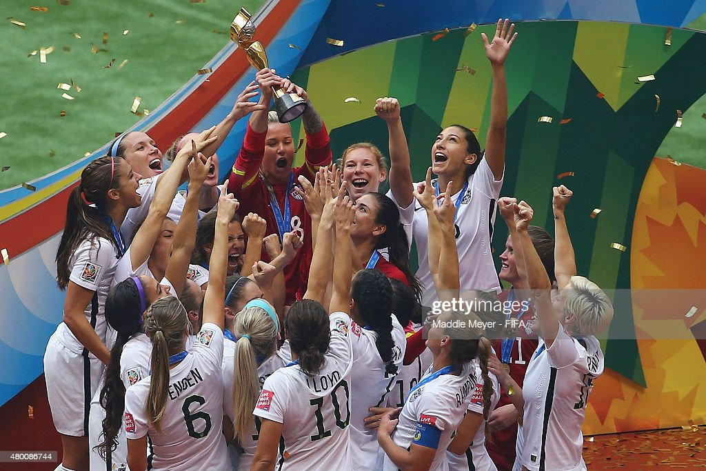 United States of America celebrates after winning the FIFA Women's World Cup 2015 final match between USA and Japan at BC Place Stadium on July 5...