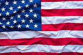 United States of America flag, close up