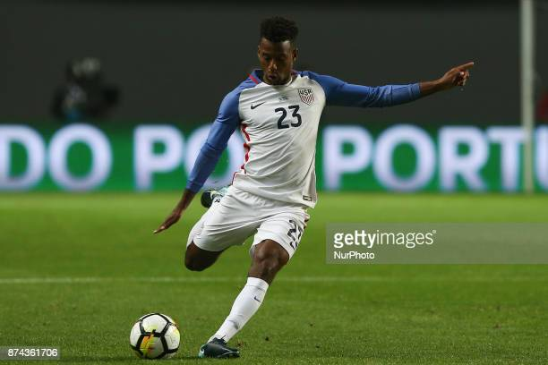 United States of America midfielder Kellyn Acosta during the match between Portugal and United States of America International Friendly at Estadio...