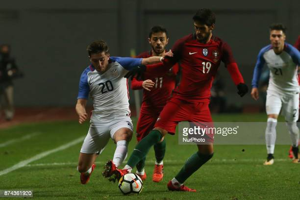 United States of America midfielder Lynden Gooch and Portugal forward Goncalo Paciencia during the match between Portugal and United States of...