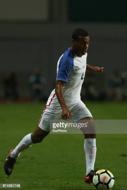 United States of America midfielder Tyler Adams during the match between Portugal and United States of America International Friendly at Estadio...