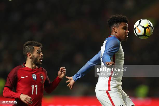 United States of America midfielder Weston McKennie during the match between Portugal and United States of America International Friendly at Estadio...