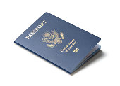 United States of America passport isolated on white background