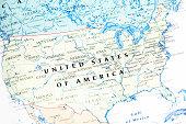 United States Of America USA Map