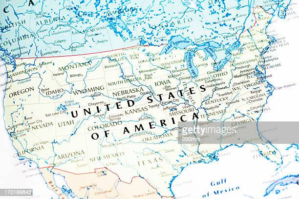 United States Of America USA Map
