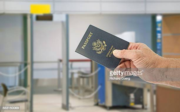 United States Passport at security