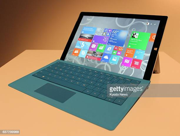 NEW YORK United States Photo of Microsoft Corp's new Surface Pro 3 tablet computer Microsoft unveiled Surface Pro 3 in New York on May 20 which has a...