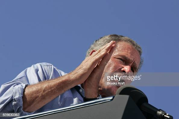 United States President George W Bush attends a campaign rally in Chillicothe Ohio