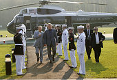 United States President George W Bush welcomes Russian President Vladimir Putin upon his arrival at the Camp David Putin will stay at Camp David...