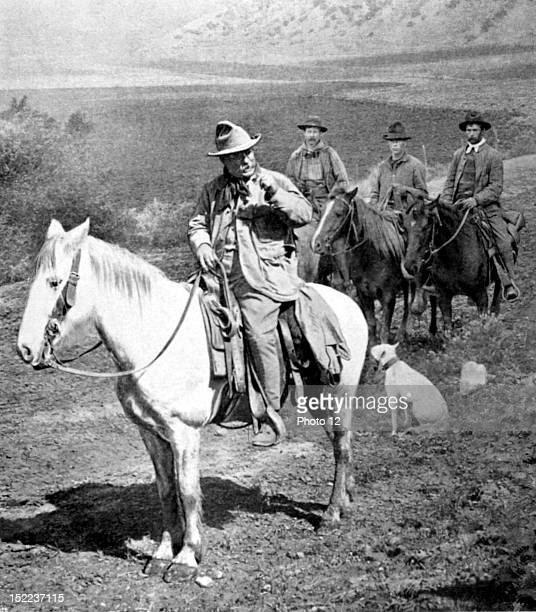 United States President of the United States Mr Theodore Roosevelt hunting bear in Colorado