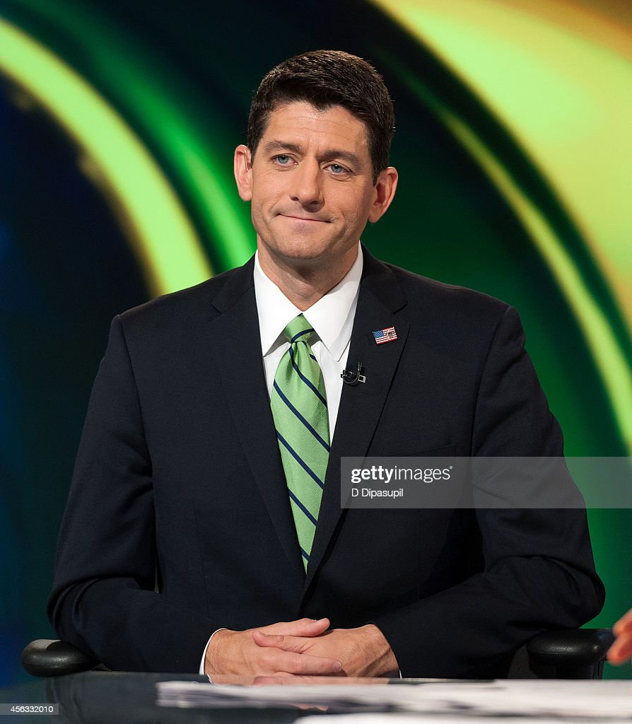 United States Representative Paul Ryan visits FOX Studios on September 29 2014 in New York City