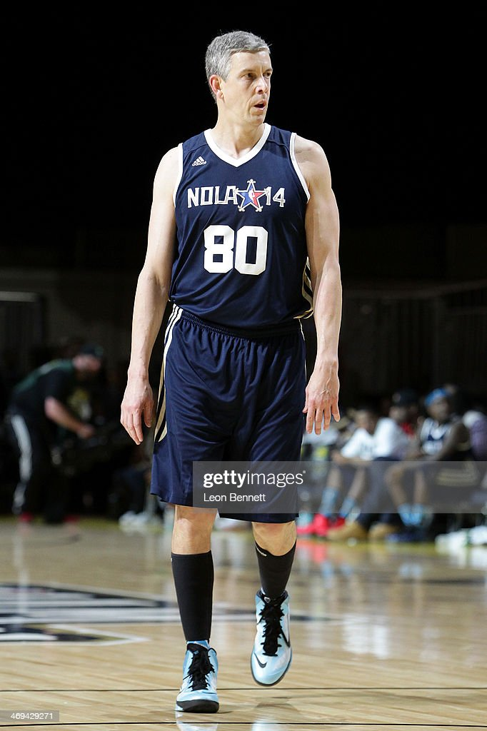 United States Secretary of Education <a gi-track='captionPersonalityLinkClicked' href=/galleries/search?phrase=Arne+Duncan&family=editorial&specificpeople=3049193 ng-click='$event.stopPropagation()'>Arne Duncan</a> participates in the NBA All-Star Celebrity Game 2014 at New Orleans Arena on February 14, 2014 in New Orleans, Louisiana.