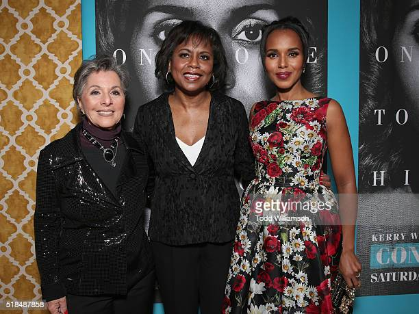 United States Senator Barbara Boxer Lawyer Anita Hill and Actress Kerry Washington attend the premiere Of HBO Films' 'Confirmation' at Paramount...
