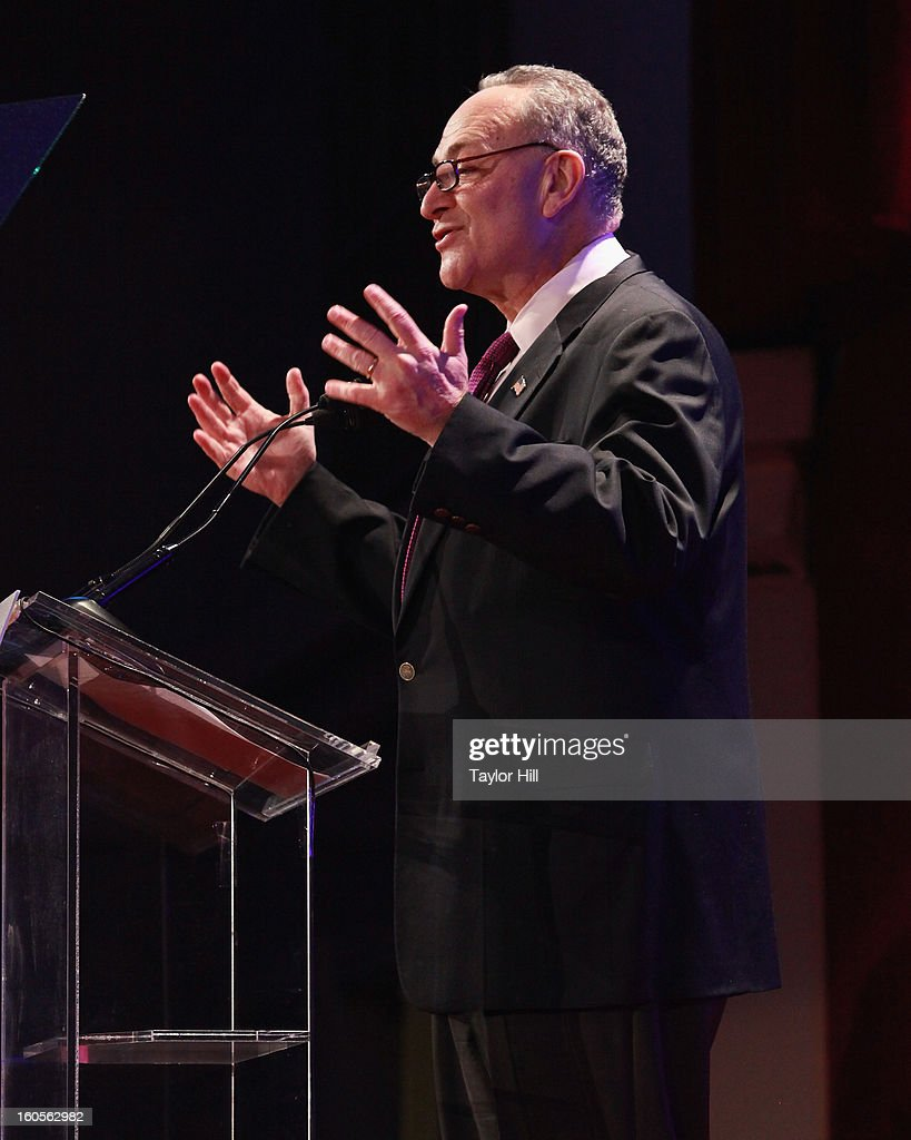 United States Senator Chuck Schumer attends The 2013 Greater New York Human Rights Campaign Gala at The Waldorf=Astoria on February 2, 2013 in New York City.