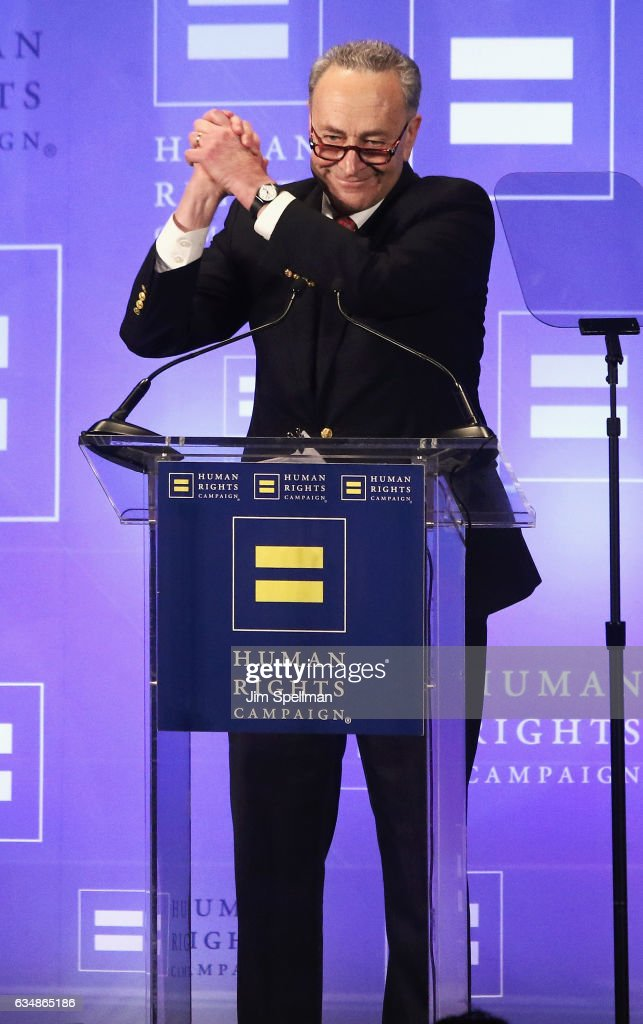 United States Senator Chuck Schumer attends the 2017 Human Rights Campaign Greater New York Gala at The Waldorf Astoria on February 11, 2017 in New York City.