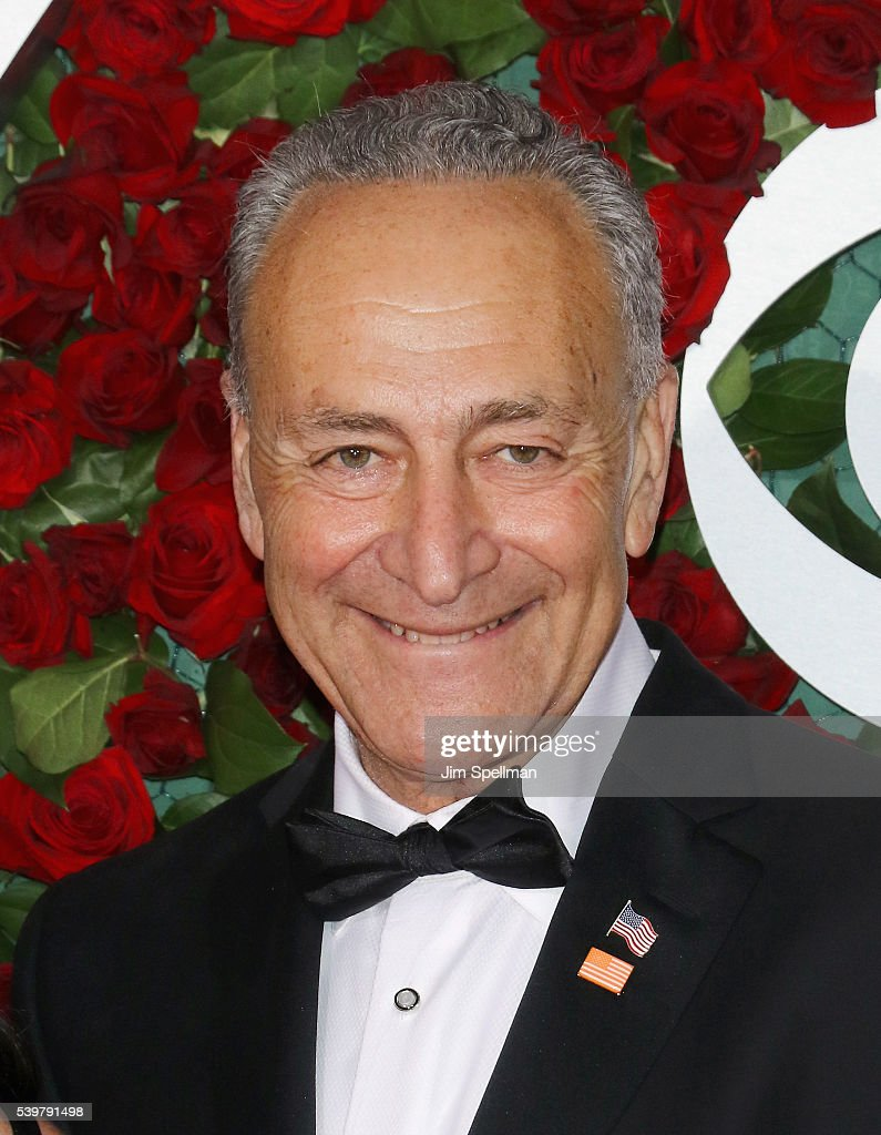United States Senator Chuck Schumer attends the 70th Annual Tony Awards at Beacon Theatre on June 12, 2016 in New York City.
