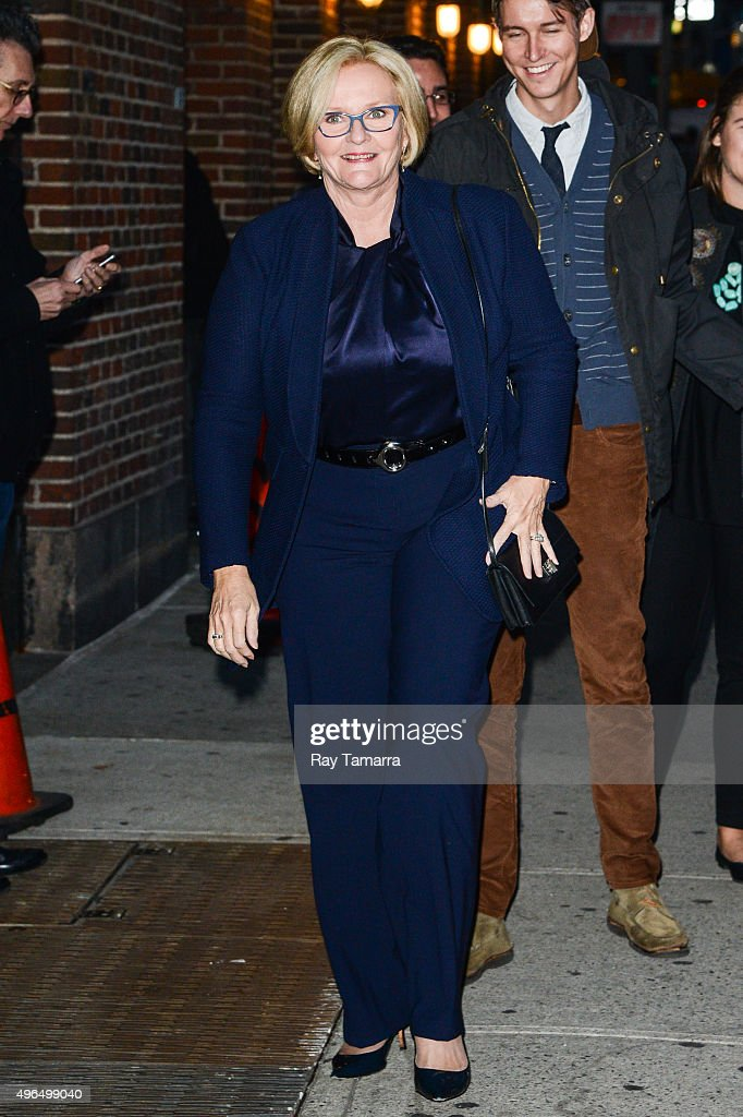 United States Senator Claire McCaskill (Democrat-Missouri) enters the 'The Late Show With Stephen Colbert' taping at the Ed Sullivan Theater on November 9, 2015 in New York City.