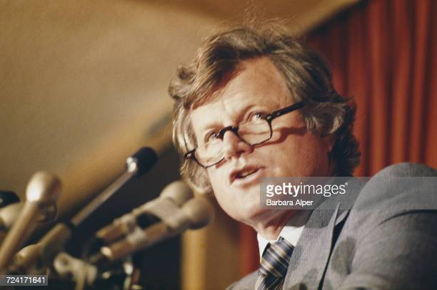 United States Senator from Massachusetts Ted Kennedy speaking in Boston Massachusetts 9th January 1979