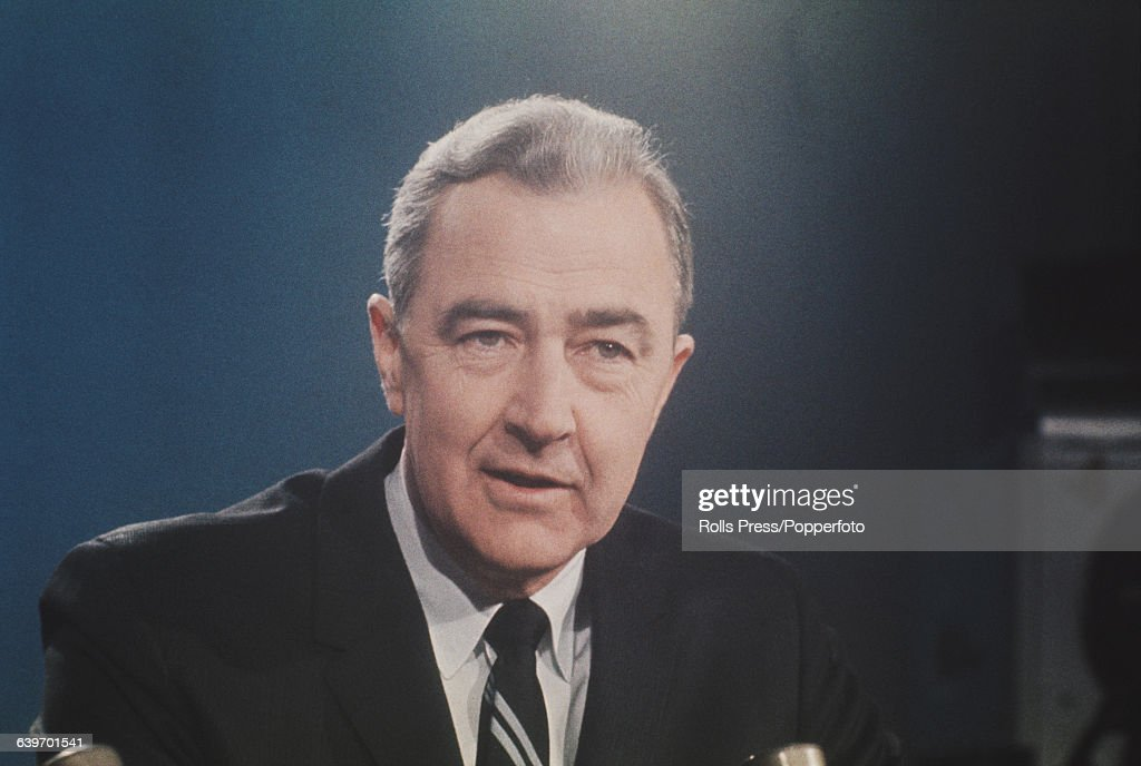 United States Senator from Minnesota and Democratic Party candidate for the Presidential nomination Eugene McCarthy appears on the Meet The Press...