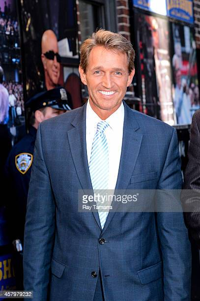 United States Senator Jeff Flake enters the 'Late Show With David Letterman' taping at the Ed Sullivan Theater on October 27 2014 in New York City
