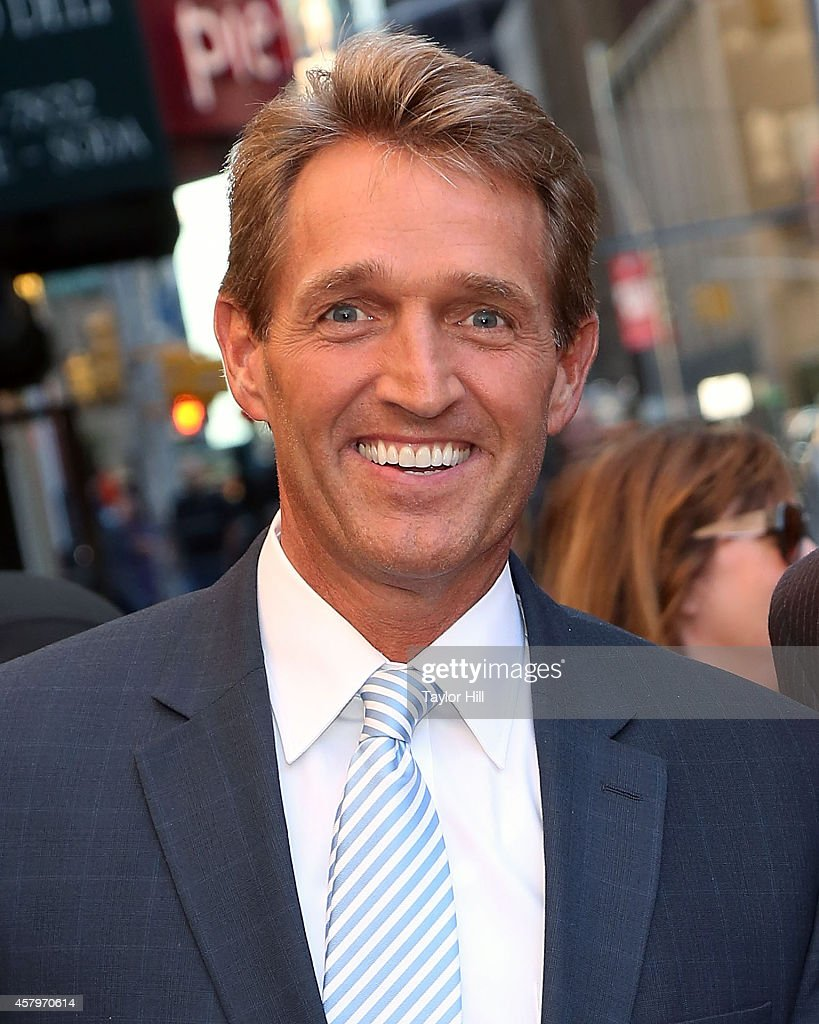 United States Senator Jeff Flake, R-Arizona, arrives at 'Late Show with David Letterman' at Ed Sullivan Theater on October 27, 2014 in New York City.