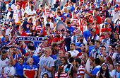 United States soccer fans are seen before the United States takes on Sweden in the FIFA Women's World Cup Canada 2015 match at Winnipeg Stadium on...