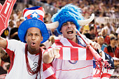 United States soccer fans cheering