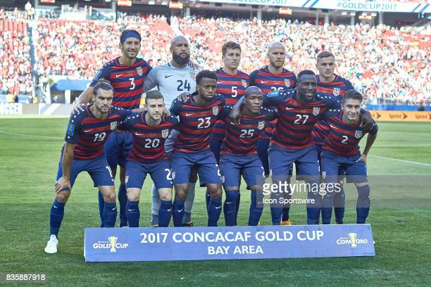 United States starting eleven pose for a picture during the CONCACAF Gold Cup Final match between the United States v Jamaica at Levi's Stadium on...