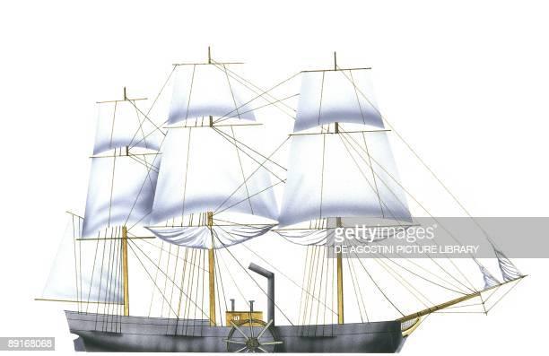 United States steamship SS Savannah illustration
