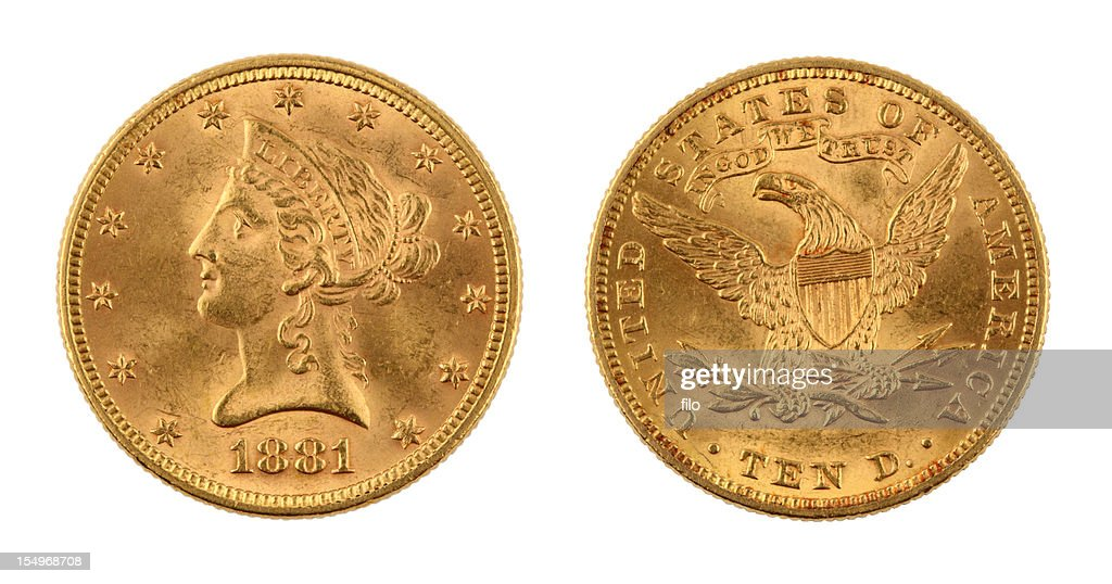 United States Ten Dollar Gold Coin : Stock Photo