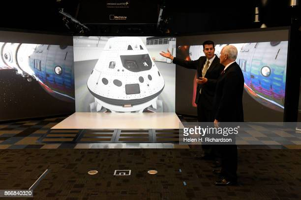 LITTLETON CO OCTOBER 26 United States Vice President Mike Pence right meets with Darin Bolthouse Manager Collaborative Human Immersive Laboratory or...