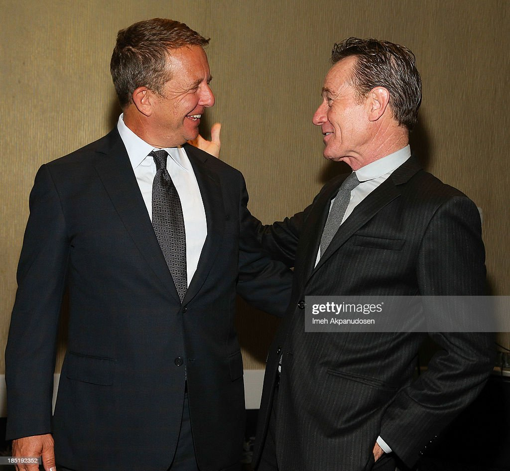 United Talent Agency CEO Jeremy Zimmer (L) and actor Bryan Cranston attend CoachArt's 9th Annual 'Gala Of Champions' at The Beverly Hilton Hotel on October 17, 2013 in Beverly Hills, California.