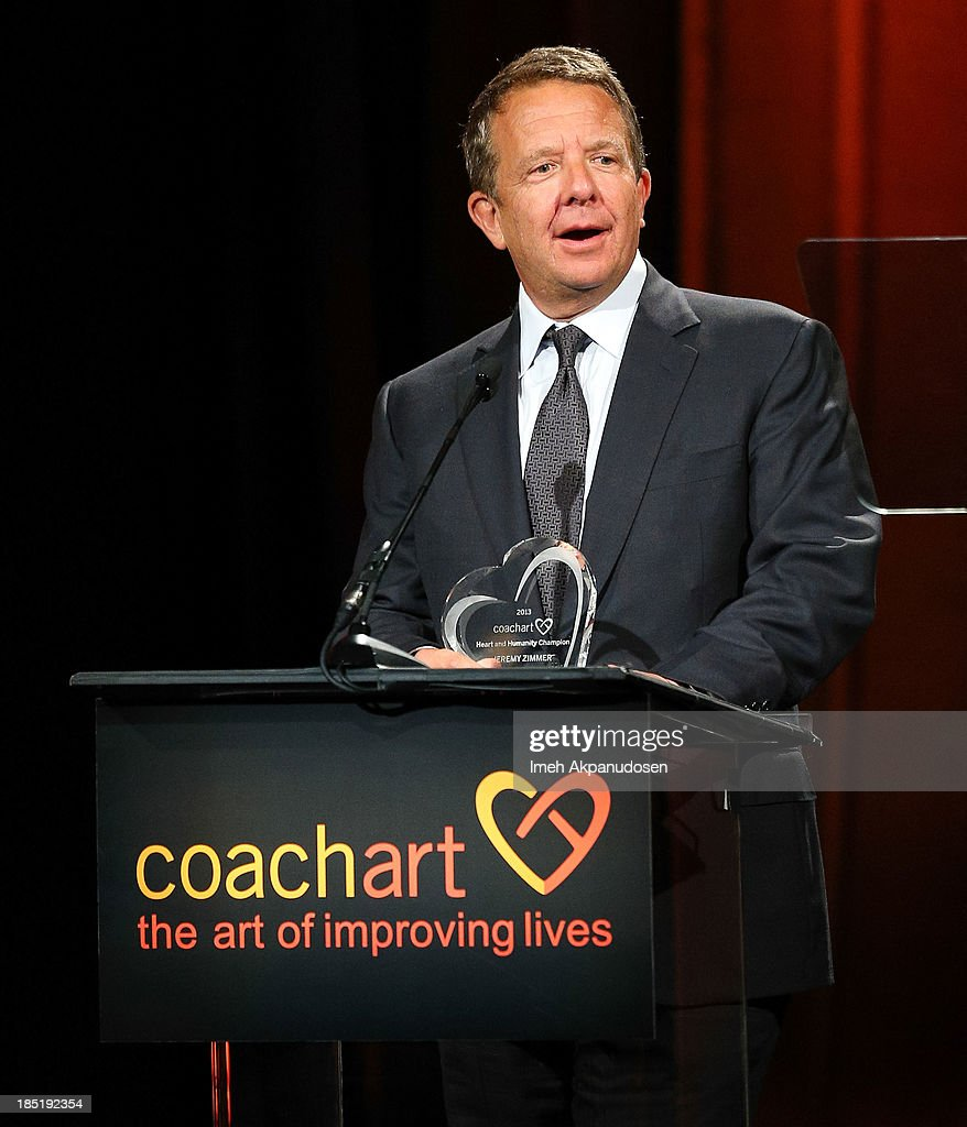 United Talent Agency CEO Jeremy Zimmer speaks onstage during CoachArt's 9th Annual 'Gala Of Champions' at The Beverly Hilton Hotel on October 17, 2013 in Beverly Hills, California.
