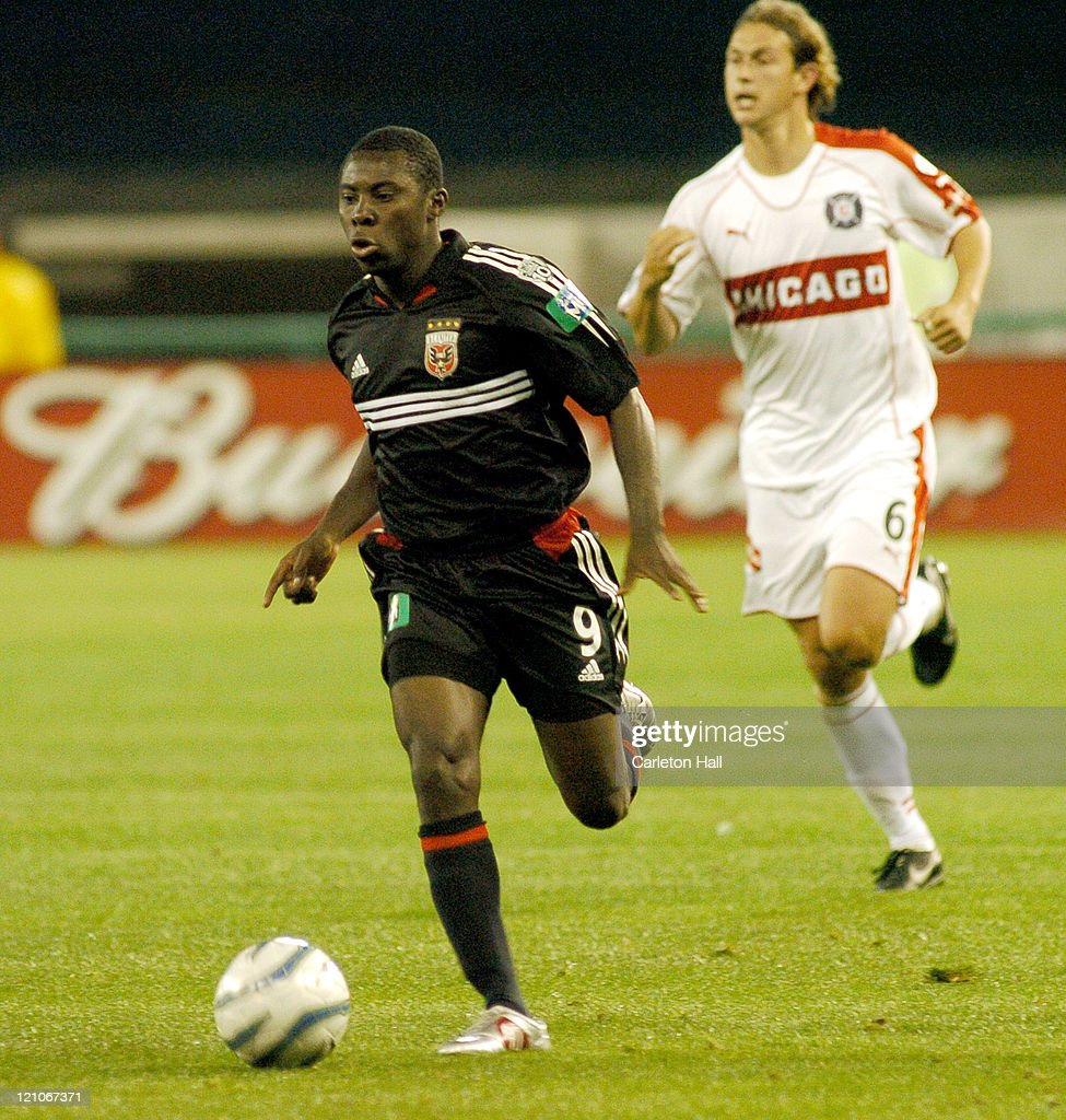 DC United's Freddy Adu in action against the Chicago Fire The Chicago Fire tied DC United with a score of 11 on Saturday April 9 2005 at Robert F...