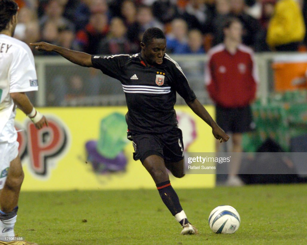 DC United's Freddy Adu in action against the New England Revolution at RFK Stadium in Washington DC Saturday November 6 2004 Regulation ended 33 DC...