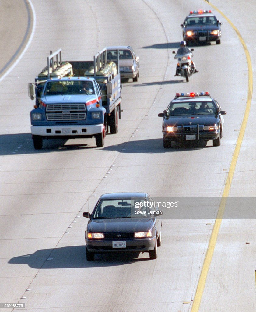 CHP units pursue Tina Berger 41 of San Clemente CA in a Nissan Altima on the northbound Ventura Freeway at Vineyard Ave in Oxnard Berger who was...