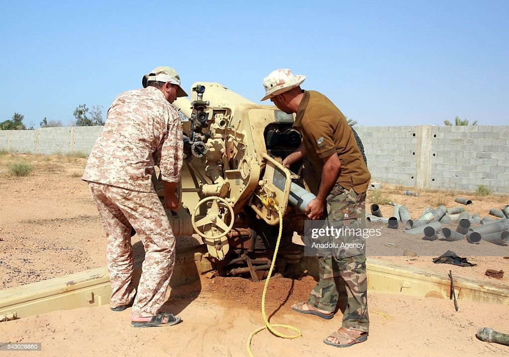 Unity government forces attack DAESH militants with heavy and light weapons in Sirte, Libya on June 25, 2016.