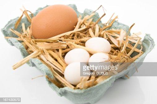 Es el símbolo de la unidad de alimentación con huevos : Foto de stock