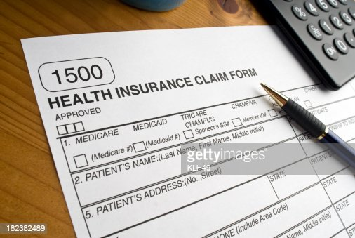 Medicare Claim Form Stock Photo | Getty Images