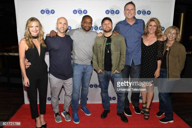 DIEGO 'Universal Cable Productions Talent Party' Pictured Maggie Lawson Chris Henze Dulé Hill James Roday Steve Franks Kirsten Nelson Kelly Kulchak