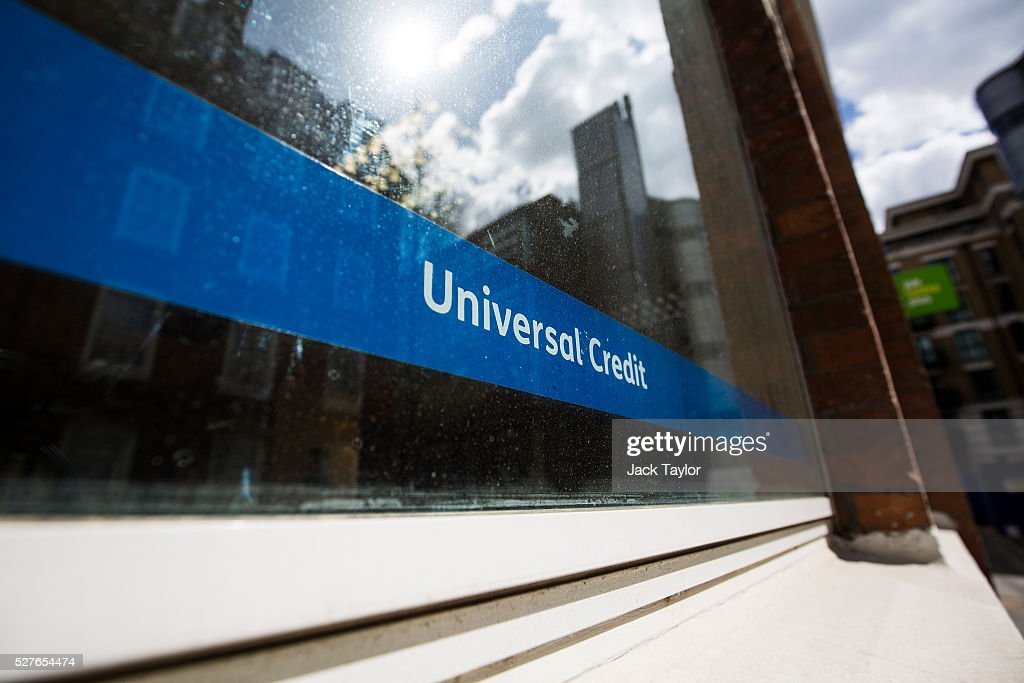 A Universal Credit sign in a Job Centre in Westminster on May 3, 2016 in London, England. The Resolution Foundation, chaired by former Conservative Minister David Willets, has said the Government's benefit reform has 'veered off track' due to cost-cutting. They say that 2.5 million families could be worse off, some by over ��3,000 a year. Universal Credit is a single payment and replaces six current benefits, including Jobseeker's Allowance and Employment and Support Allowance.